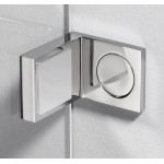"""Угловой соединительный элемент для душевой кабины """"Plan square"""" 90° стекло - стена"""